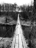 Fietsrit Oude brug Royalty-vrije Stock Fotografie