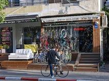 Fietswinkel in Yel Aviv stock fotografie