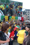 FIFA-2010 Feier, Trafalgar Quadrat Lizenzfreie Stockfotos