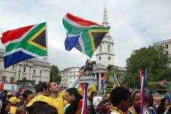 FIFA-2010 Feier, Trafalgar Quadrat Lizenzfreies Stockbild
