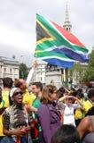 FIFA-2010 Feier, Trafalgar Quadrat Lizenzfreie Stockbilder