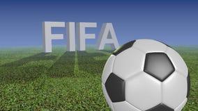 FIFA após uma colisão com futebol ilustração stock