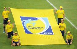 FIFA Fair Play flag stock photography