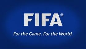 FIFA flaga tkaniny tekstura Fotografia Stock