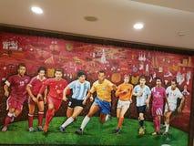 Fifa football art stock image