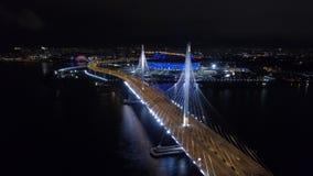 2018 FIFA puchar świata, Rosja, święty Petersburg, świętego Petersburg stadium, noc, anteny zdjęcie wideo