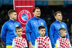 FIFA puchar świata 2018 zapałczany Ukraina, Chorwacja - Zdjęcie Royalty Free
