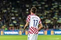 FIFA puchar świata 2018 zapałczany Ukraina, Chorwacja - Zdjęcia Royalty Free