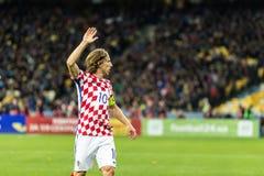 FIFA puchar świata 2018 zapałczany Ukraina, Chorwacja - Obraz Stock