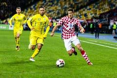 FIFA puchar świata 2018 zapałczany Ukraina, Chorwacja - Zdjęcie Stock