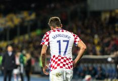 FIFA puchar świata 2018 zapałczany Ukraina, Chorwacja - Obraz Royalty Free