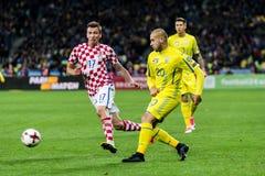 FIFA puchar świata 2018 zapałczany Ukraina, Chorwacja - Fotografia Royalty Free