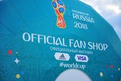 FIFA pucharu świata Rosja 2018 sklep Fotografia Stock