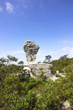 Fifa rock at the national park. The ancient rock with the shape of FIFA trophy in the national park situated in Thailand Stock Photo