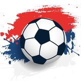 FIFA russian cup. Russian flag with soccer ball Stock Photography