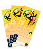 FIFA Soccer World Cup 2010 - Ticket Sample Stock Photography