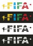 FIFA. The stylized word FIFA. Vector format Stock Photos