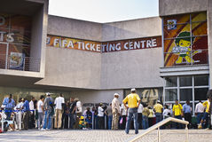 FIFA Ticket Center, Queue Out The Door Royalty Free Stock Photos