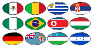 FIFA U-20 puchar świata Nowa Zelandia 2015, flaga grupowy d, E, F Fotografia Royalty Free