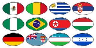FIFA U-20 världscup Nya Zeeland 2015, flaggagrupp D, E, F Royaltyfri Fotografi
