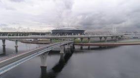 2018 FIFA världscup, Ryssland, St Petersburg, St Petersburg stadion, stock video