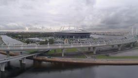 2018 FIFA världscup, Ryssland, St Petersburg, St Petersburg stadion, lager videofilmer