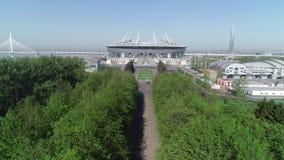 2018 FIFA världscup, Ryssland, St Petersburg, St Petersburg stadion arkivfilmer