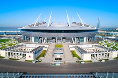 2018 FIFA världscup, Ryssland, St Petersburg, St Petersburg stadion arkivbilder