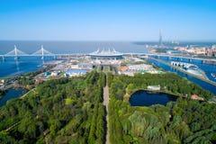 2018 FIFA världscup, Ryssland, St Petersburg, St Petersburg stadion arkivfoto