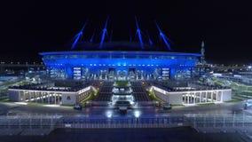 2018 FIFA världscup, Ryssland, St Petersburg, St Petersburg stadion, natt, antenner arkivfilmer