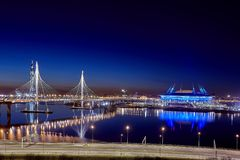 Fifa-världscup Ryssland 2018, Zenit arenastadion St Petersburg Fotografering för Bildbyråer