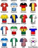 Fifa-världscupBrasilien grupper 2014 royaltyfri illustrationer