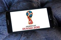 FIFA världscupRyssland logo 2018 Arkivfoton