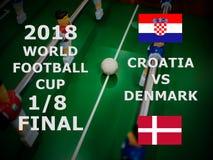 Fifa-Weltcup Russland 2018, Fußballspiel meisterschaft abschließend Ein achtes der Schale Match Kroatien GEGEN Dänemark Lizenzfreies Stockbild