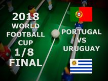 Fifa-Weltcup Russland 2018, Fußballspiel meisterschaft abschließend Ein achtes der Schale Match Portugal gegen Uruguay Lizenzfreies Stockfoto