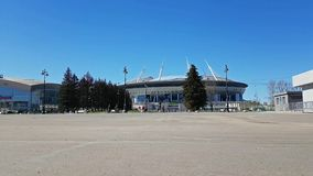 21. FIFA-Weltcup 2018 Stadion St Petersburg stock video