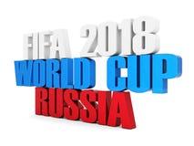 Fifa-wereldbeker 2018 in Rusland vector illustratie