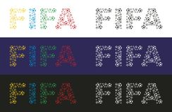 FIFA. The word FIFA made ​​up of balls. Vector format Royalty Free Stock Images