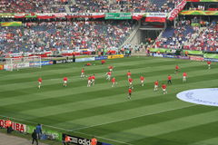 FIFA World Cup 2006 Poland Costa Rica warm up Royalty Free Stock Photos