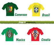 Fifa World Cup 2014 Group A. Symbol soccer team Fifa World Cup 2014 Group A Royalty Free Stock Photo
