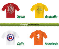 Fifa World Cup 2014 Group B. Vector Symbol soccer team Fifa World Cup 2014 Group B Royalty Free Stock Photography