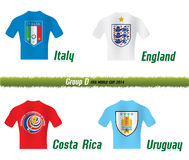 Fifa World Cup 2014 Group D Stock Photography
