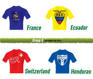 Fifa World Cup 2014 Group E. Vector Symbol soccer team Fifa World Cup 2014 Group E Royalty Free Stock Photo