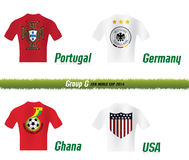 Fifa World Cup 2014 Group G. Vector Symbol soccer team Fifa World Cup 2014 Group G Royalty Free Stock Photos