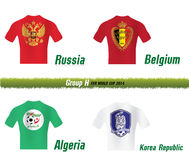 Fifa World Cup 2014 Group H. Vector Symbol soccer team Fifa World Cup 2014 Group H Stock Photography
