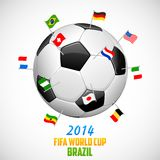 FIFA World Cup background. Illustration of flag of participating countries on soccer ball in FIFA World Cup background Royalty Free Stock Photo