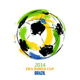 FIFA World Cup background. Illustration of grungy soccer ball in FIFA World Cup background Royalty Free Stock Photo