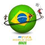 FIFA World Cup background. Illustration of player kicking soccer ball in FIFA World Cup background Stock Images
