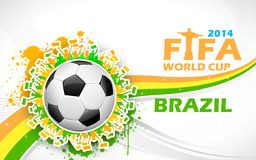 FIFA World Cup background. Illustration of soccer ball in FIFA World Cup background Stock Image
