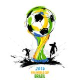 FIFA World Cup background. Illustration of soccer player in FIFA World Cup background Stock Photos